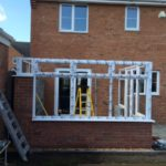 conservatory in construction