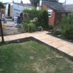new path laid in garden